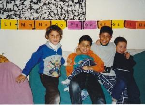 Jules, Virgile, Christian, Pablo à la Garderie